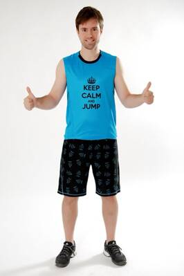 "Tielko ""KEEP CALM and JUMP"" modré"